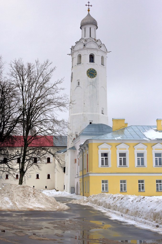 Stock Photo: 1566-1155453 Clock tower in Kremlin 1673, Veliky Novgorod, Novgorod region, Russia