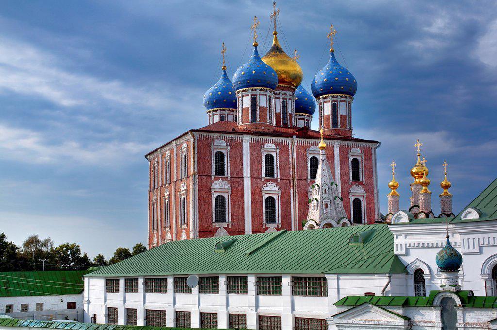 Stock Photo: 1566-1155468 The Dormition cathedral 1699, Ryazan Kremlin, Ryazan, Russia