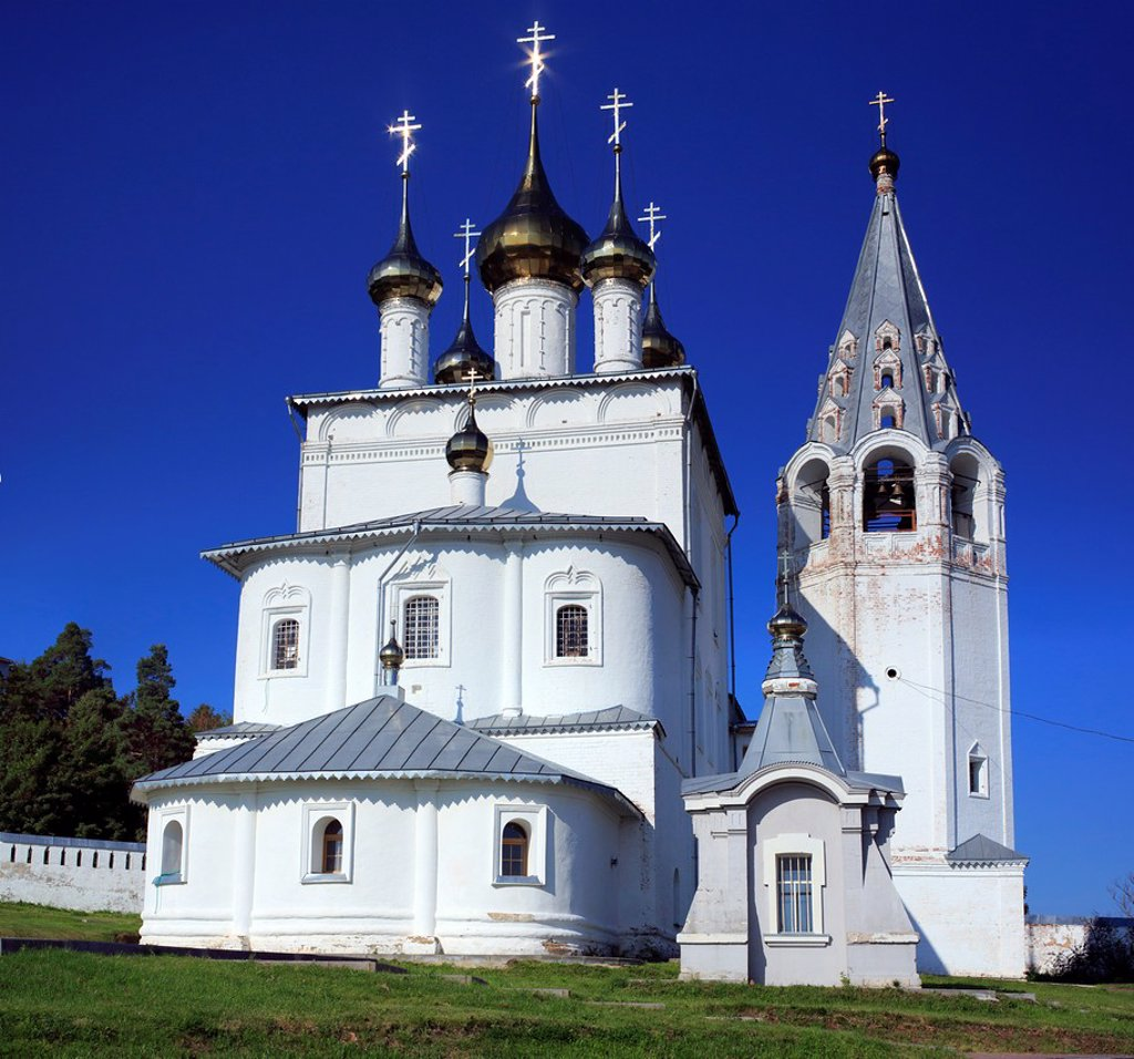 Stock Photo: 1566-1156075 Holy Trinity cathedral 1681, St  Nicholas monastery, Gorokhovets, Vladimir region, Russia