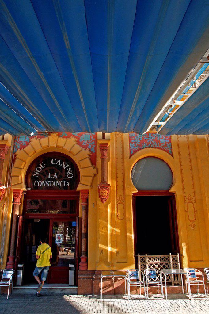 La Constancia Casino , 1889, architect: General Guitart i Lostalo, Sant Feliu de Guixols, Catalonia, Spain : Stock Photo