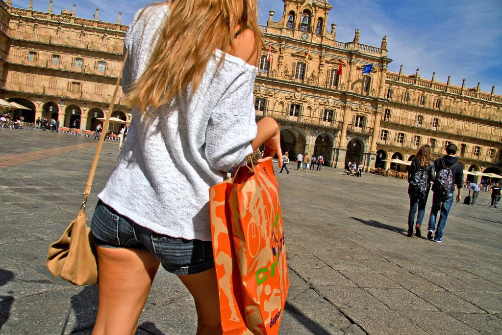 Plaza Mayor  Main Square, by Alberto Churriguerra, Salamanca, Spain : Stock Photo