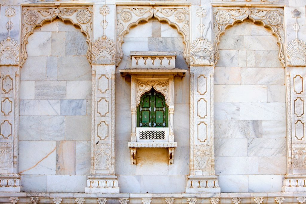 Stock Photo: 1566-1157577 Detail of Jaswant Thada, 1899, Memorial to Maharaja Jaswant Singh II,Jodhpur, Rajasthan, India