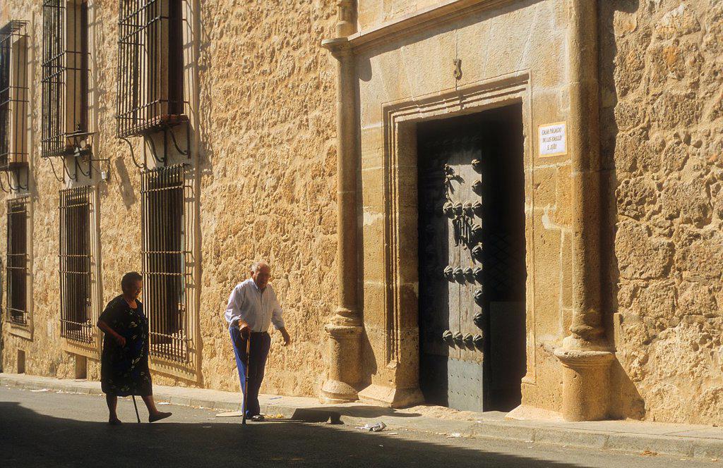 Stock Photo: 1566-1157695 Facade of Baillo Palace, Belmonte,Cuenca province,Castilla La Mancha,the route of Don Quixote, Spain