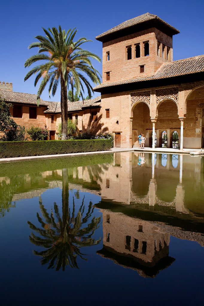 Partal,Torre de las Damas, Alhambra, Granada, Andalucia, Spain : Stock Photo