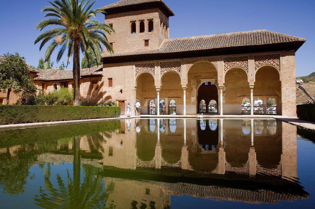 Partal,Torre de las Damas, Alhambra, Granada, Andalucia, Spain : Stock Photo