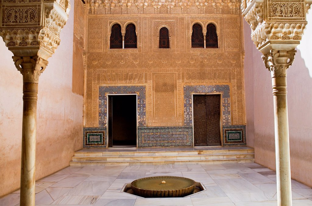 'Cuarto Dorado',gold room, Nazaries palaces, Alhambra, Granada Andalusia : Stock Photo