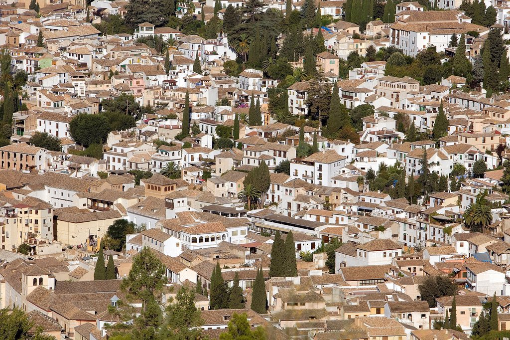 View of Albaicín quarter,Granada Andalusia, Spain : Stock Photo
