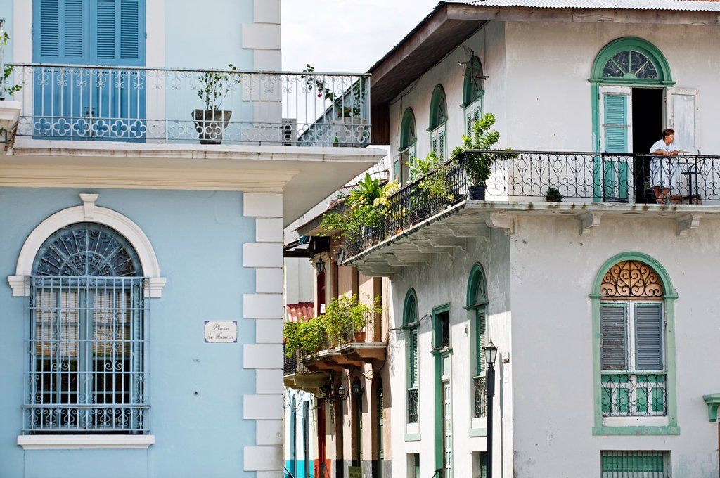 Stock Photo: 1566-1158329 Old city casco viejo, San Felipe district, Panama City  Panama.