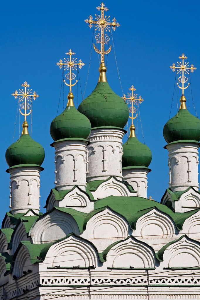 Stock Photo: 1566-1159005 green domes, Church, Kremlin Moscow, Russia