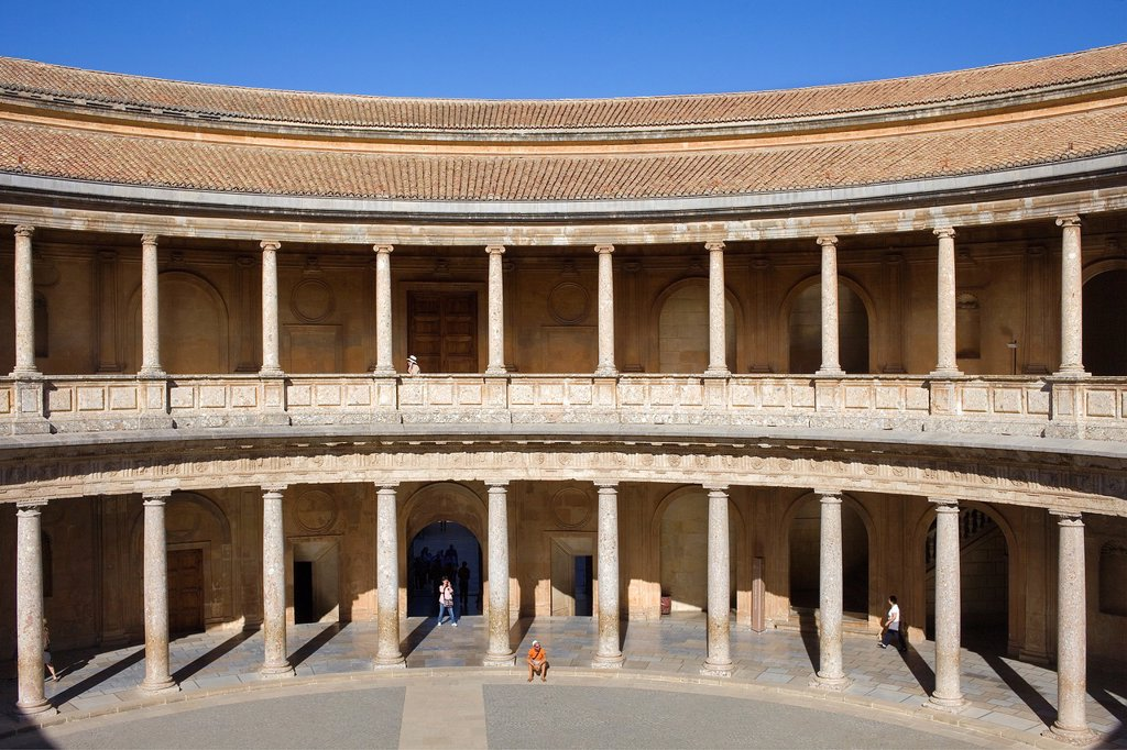 Stock Photo: 1566-1159411 Charles V´s palace, Alhambra  Granada, Andalusia  Spain