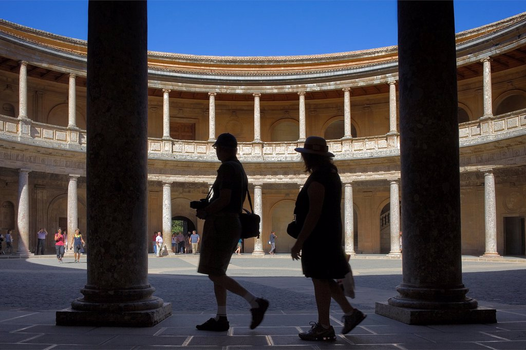 Stock Photo: 1566-1159413 Charles V´s palace, Alhambra  Granada, Andalusia  Spain