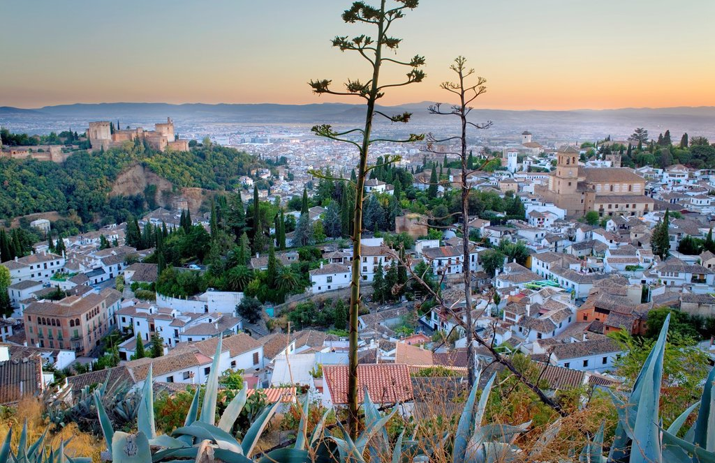 City view,Alhambra and Albaicín quarter,Granada Andalusia, Spain : Stock Photo