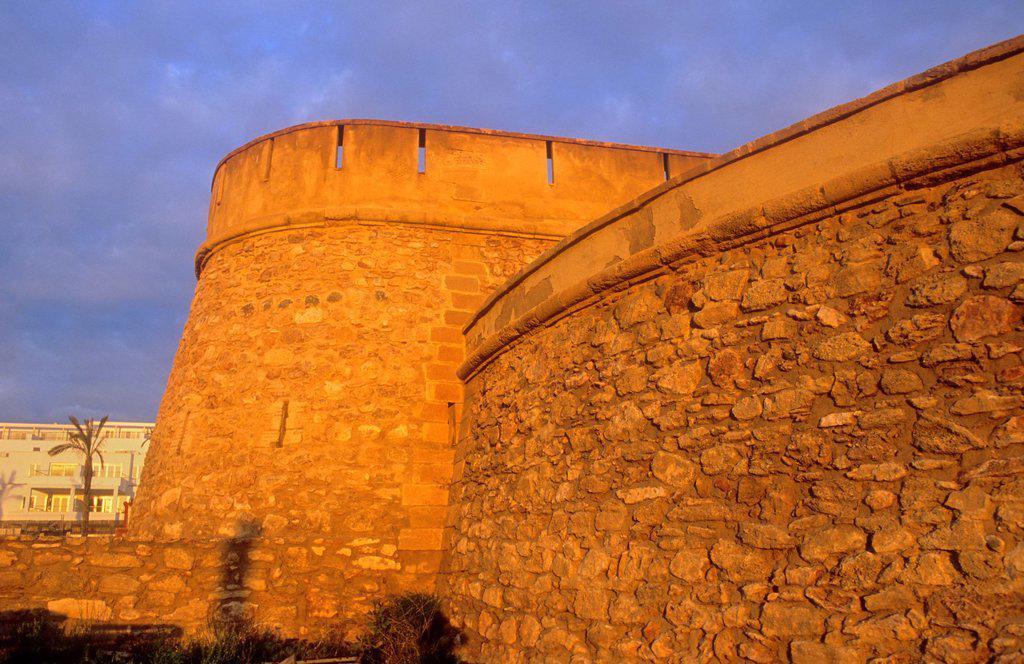 Stock Photo: 1566-1159746 Castle of Jesus Nazareno Garrucha, Almeria province, Andalucia, Spain