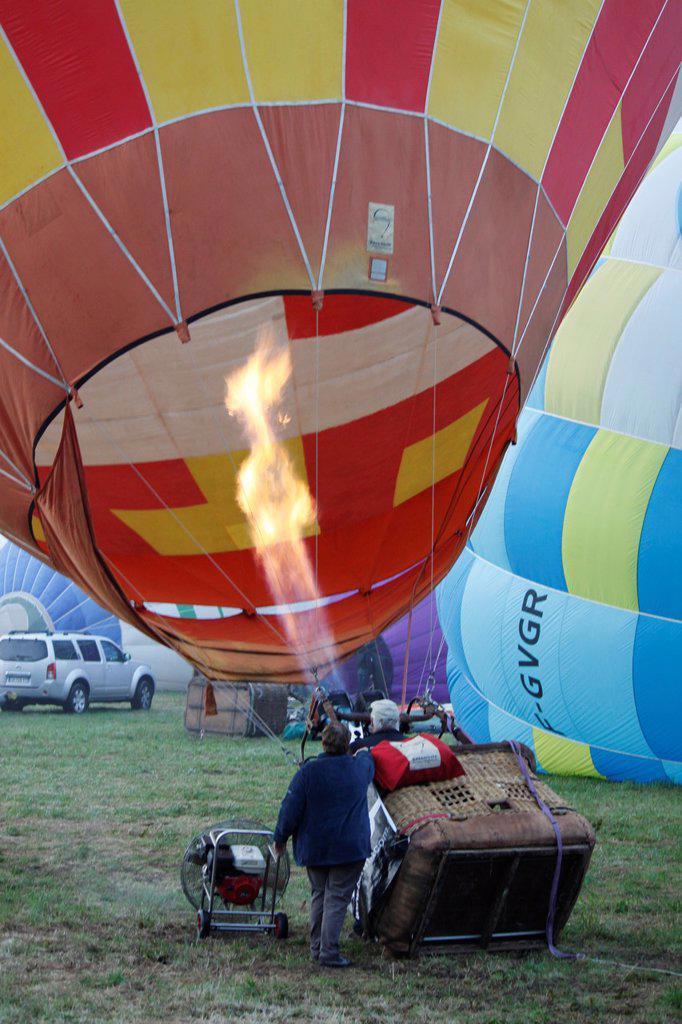 Stock Photo: 1566-1160577 Balloon, Coupe Icare, Saint Hilaire du Touvet, Isère, Rhône-Alpes, France.