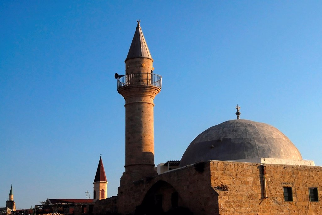 Sinan Basha Mosque in Acre or Akko, Israel : Stock Photo