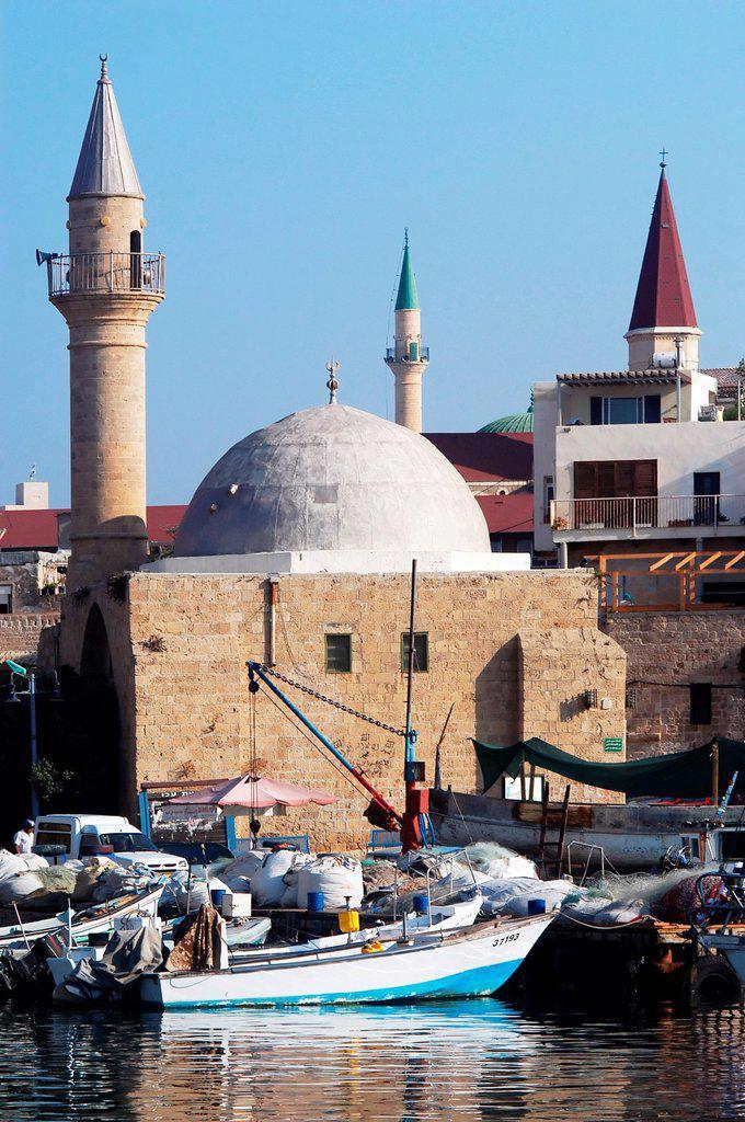 Sinan Basha Mosque in Acre or Akko, Israel : Stock Photo