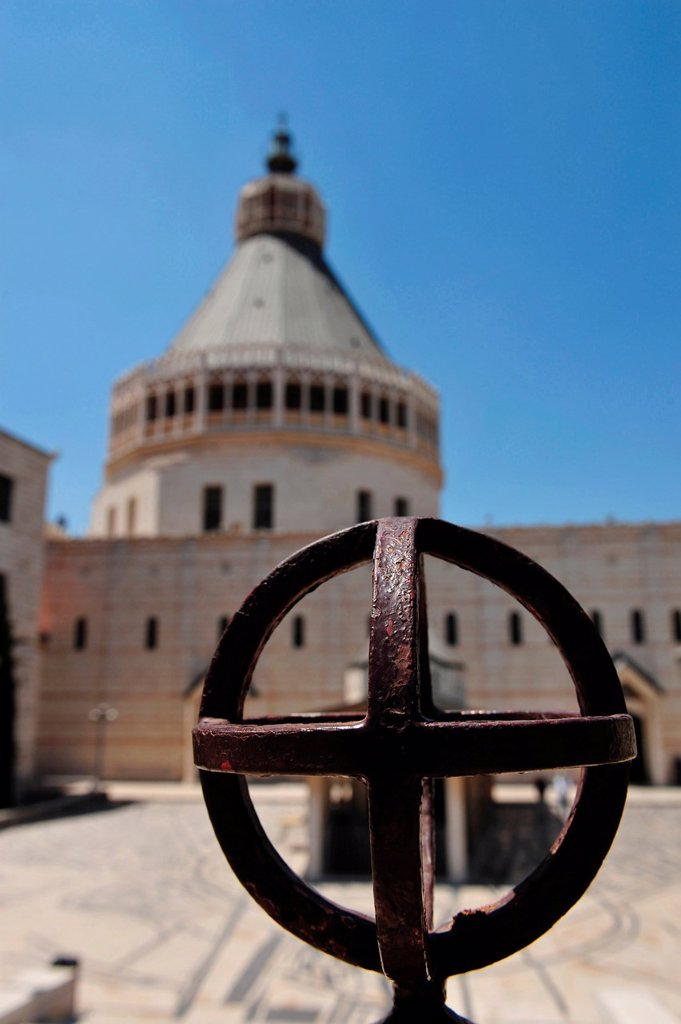 Stock Photo: 1566-1160656 The roman catholic church of the annunciation in Nazareth, Israel  A historically significant site, considered sacred within some circles of Christianity
