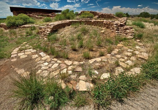 Lowry Pueblo, Anasazi ruins at Canyons of the Ancients National Monument, Colorado, USA : Stock Photo