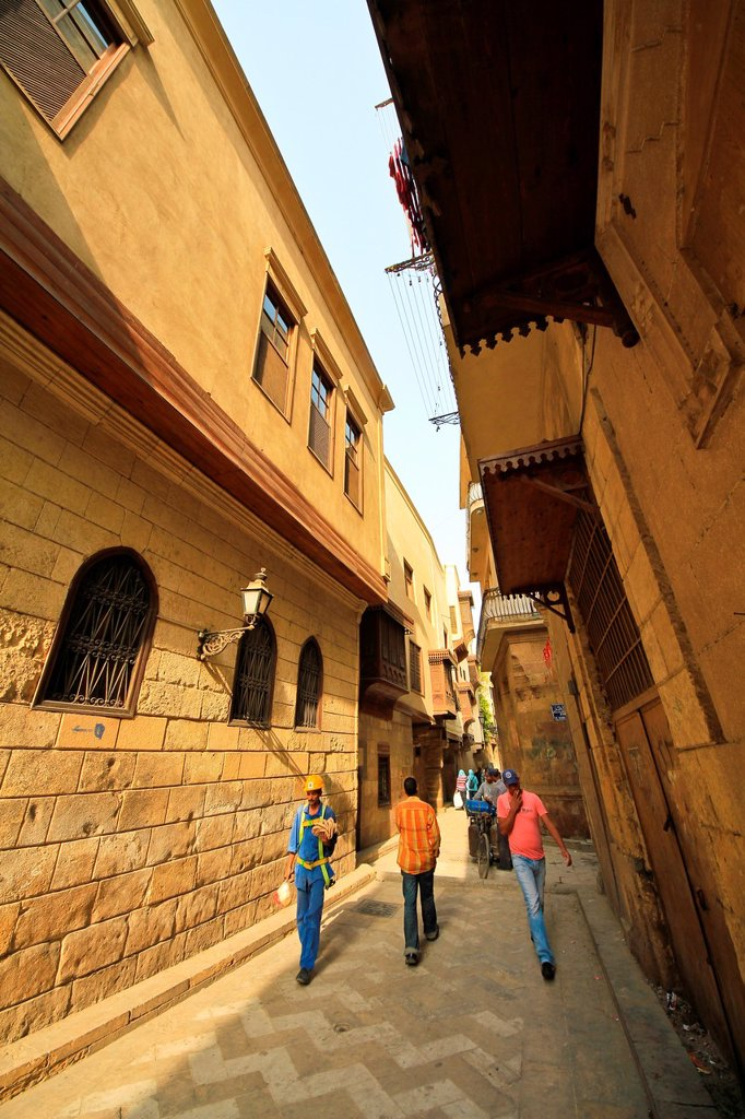 Stock Photo: 1566-1162323 Bayt Al-Suhaymi,house of Al-Suhaymi,It was originally built in 1648 by Abd el-Wahab el-Tablawy, Darb al-Asfar , City of Cairo, Egypt,