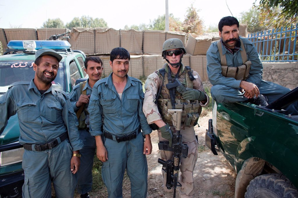 Stock Photo: 1566-1163079 Afghan National Police ANP in kunduz, Afghanistan