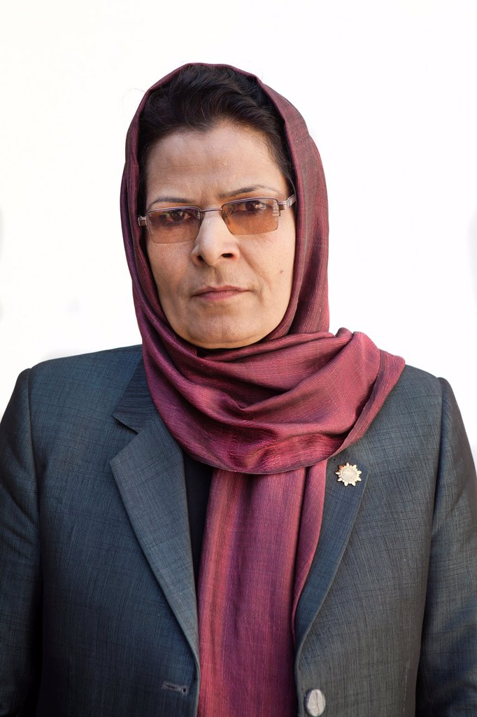 Najia Barakhel, afghan member of parliament : Stock Photo