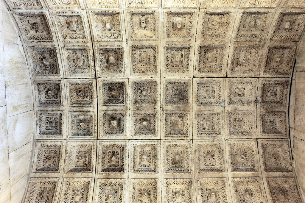 Stock Photo: 1566-1163243 Ceiling in temple of Jupiter, now Baptistry of St John, Split, Dalmatia, Croatia