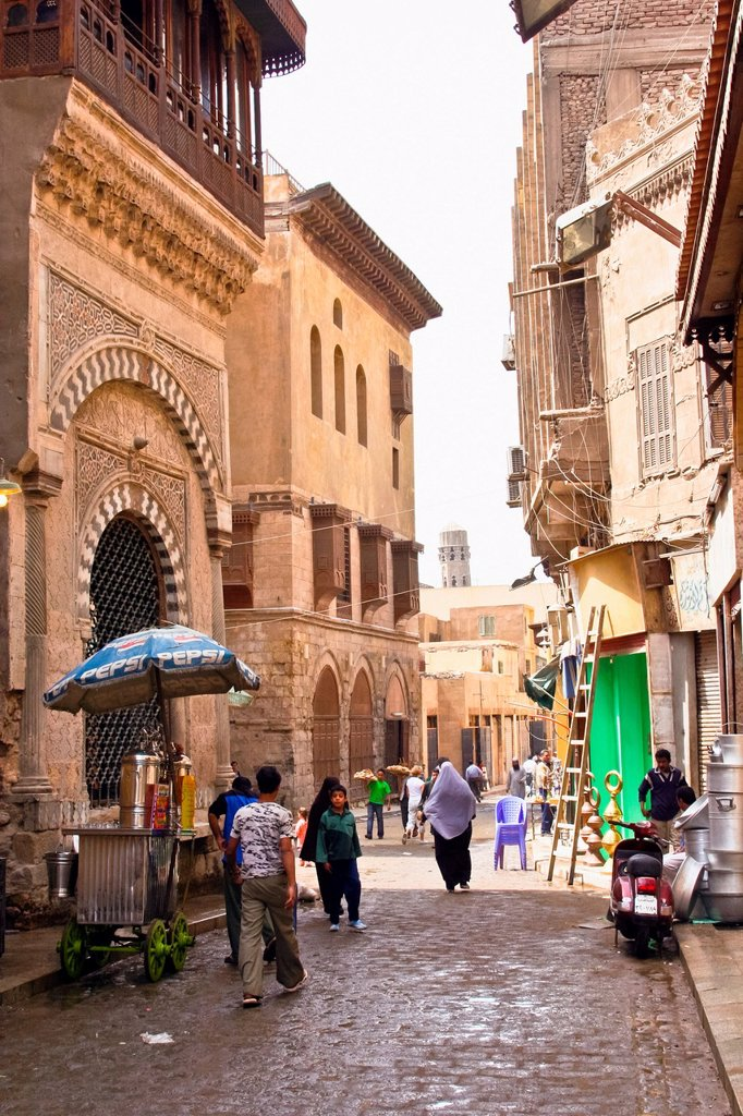 Stock Photo: 1566-1165416 Al-Muizz li-Din Allah Street, city of Cairo, Egypt