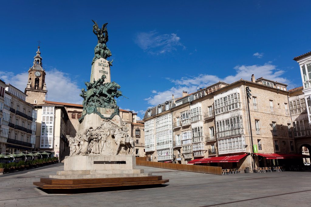 Virgen blanca square, Vitoria, Alava, Spain : Stock Photo
