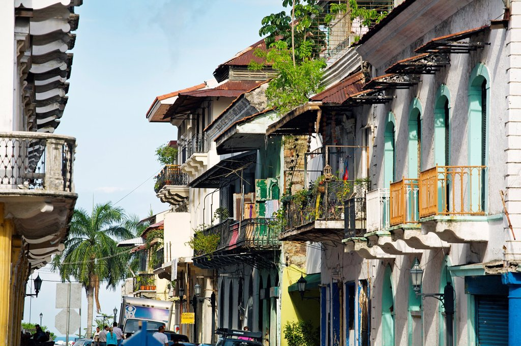 Stock Photo: 1566-1166718 Old city casco viejo, San Felipe district, Panama City  Panama.