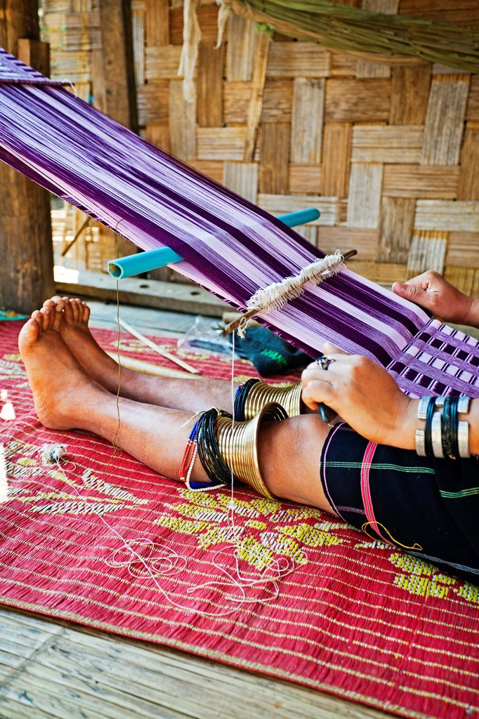 Longneck Karen Tribe, Ban Nai Soi village, Mae Hong son Province, Thailand. : Stock Photo