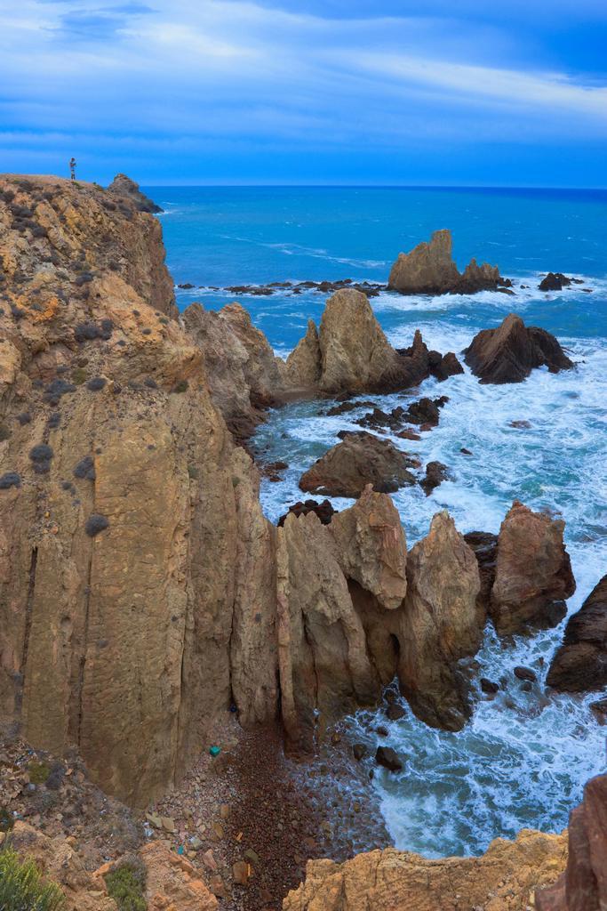 Stock Photo: 1566-1167953 Cabo de Gata, Reef of the Mermaids, Cabo de Gata-Nijar Natural Park, Arrecife de las Sirenas, Biosphere Reserve, Almeria province, Andalucia, Spain