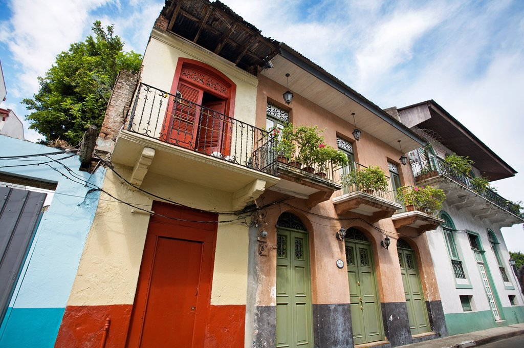 Old city casco viejo, San Felipe district, Panama City  Panama. : Stock Photo