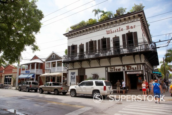 Stock Photo: 1566-1168469 the bull and whistle bar duval street old town key west florida usa