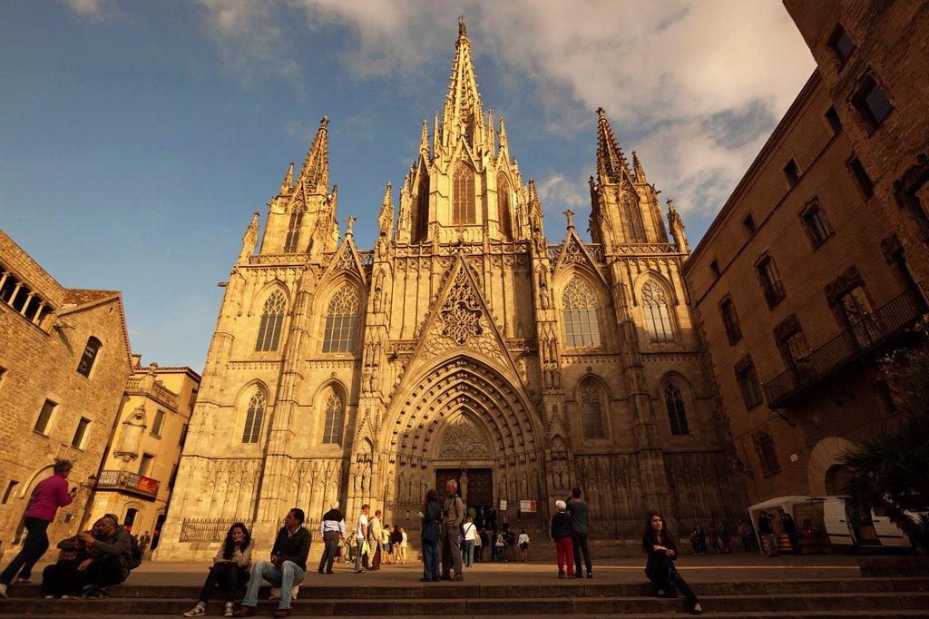 Barcelona, Spain  The Gothic cathedral : Stock Photo