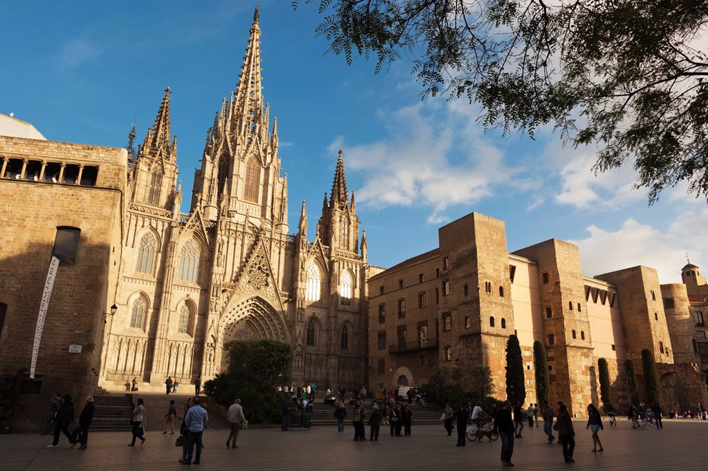 Stock Photo: 1566-1169592 Barcelona, Spain  The Gothic cathedral