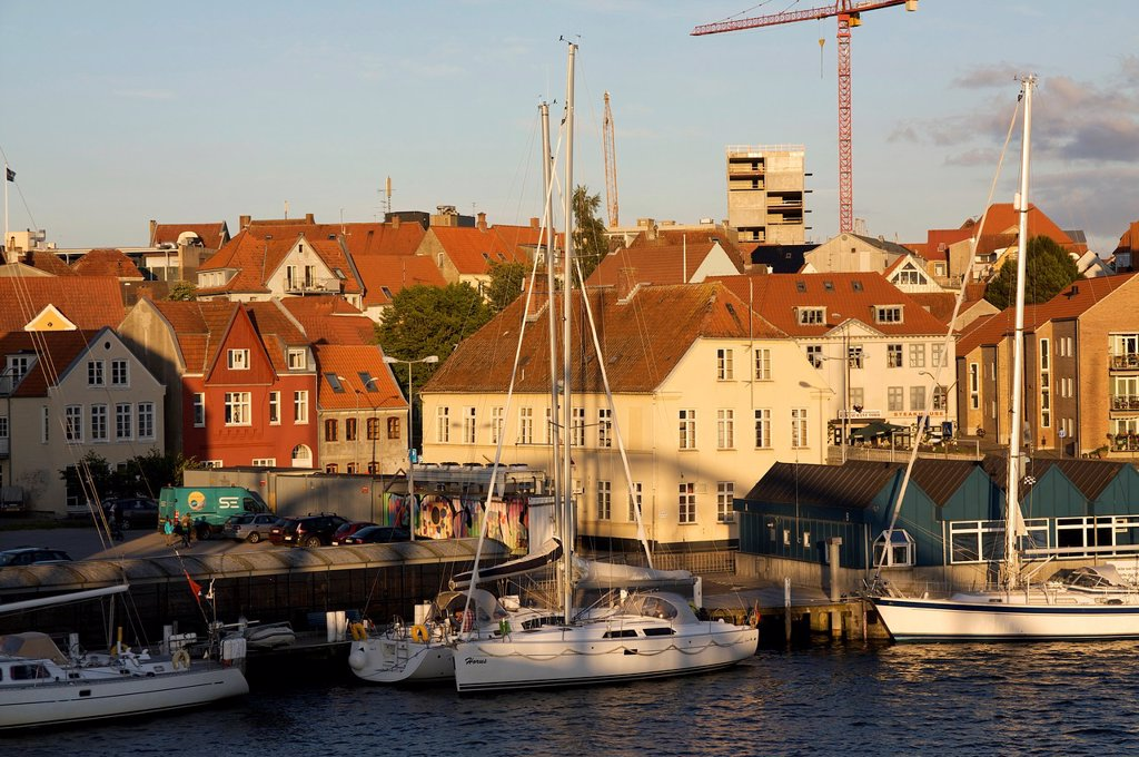 Stock Photo: 1566-1170203 Habor of Sonderborg, Denmark, Baltic Sea
