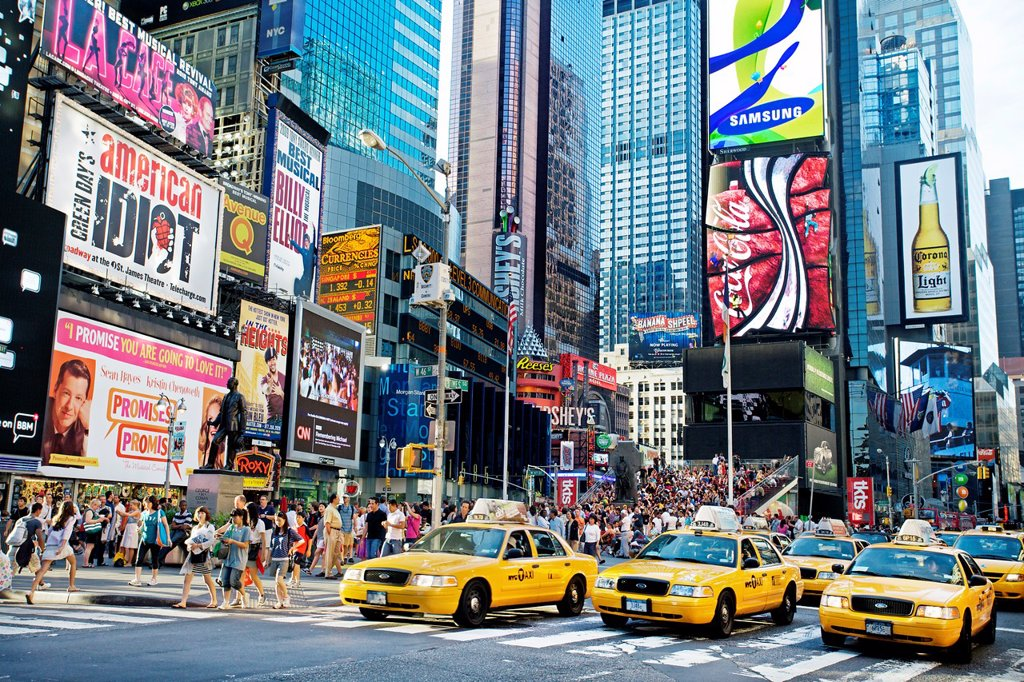 Stock Photo: 1566-1171125 Times square, Manhattan, New York City  USA.