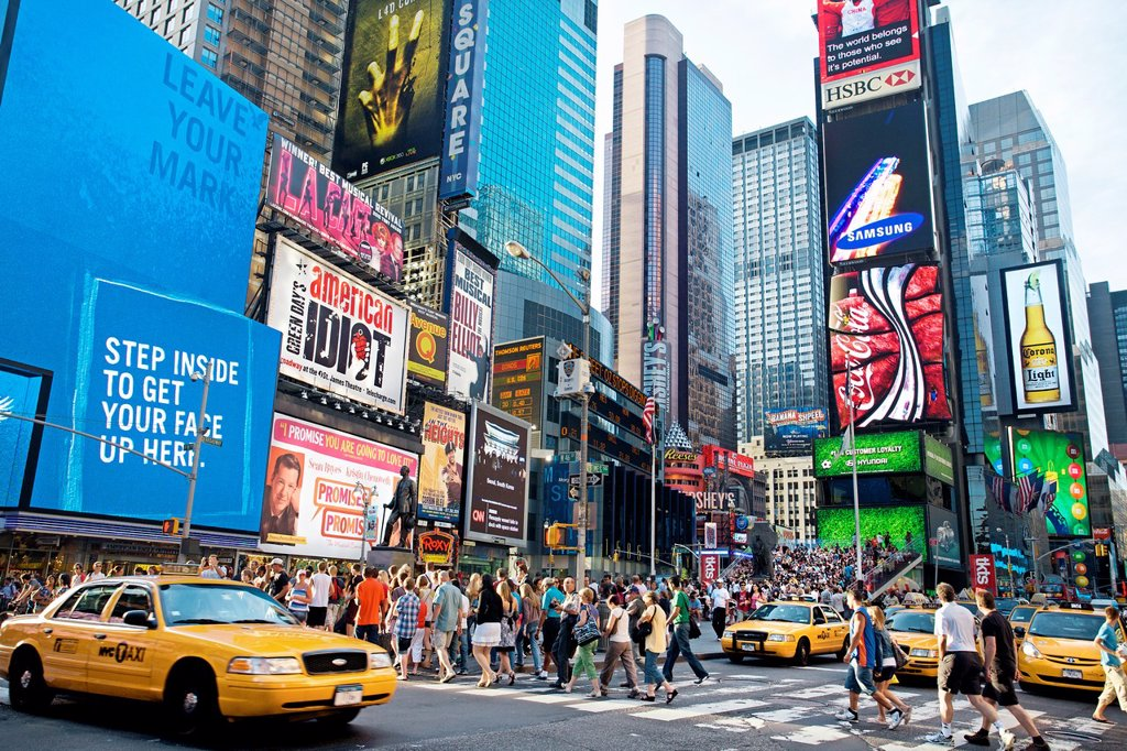 Stock Photo: 1566-1171128 Times square, Manhattan, New York City  USA.