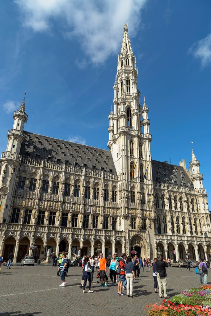 Stock Photo: 1566-1171420 Town Hall, Grand Place,Brussels,Belgium,Europe
