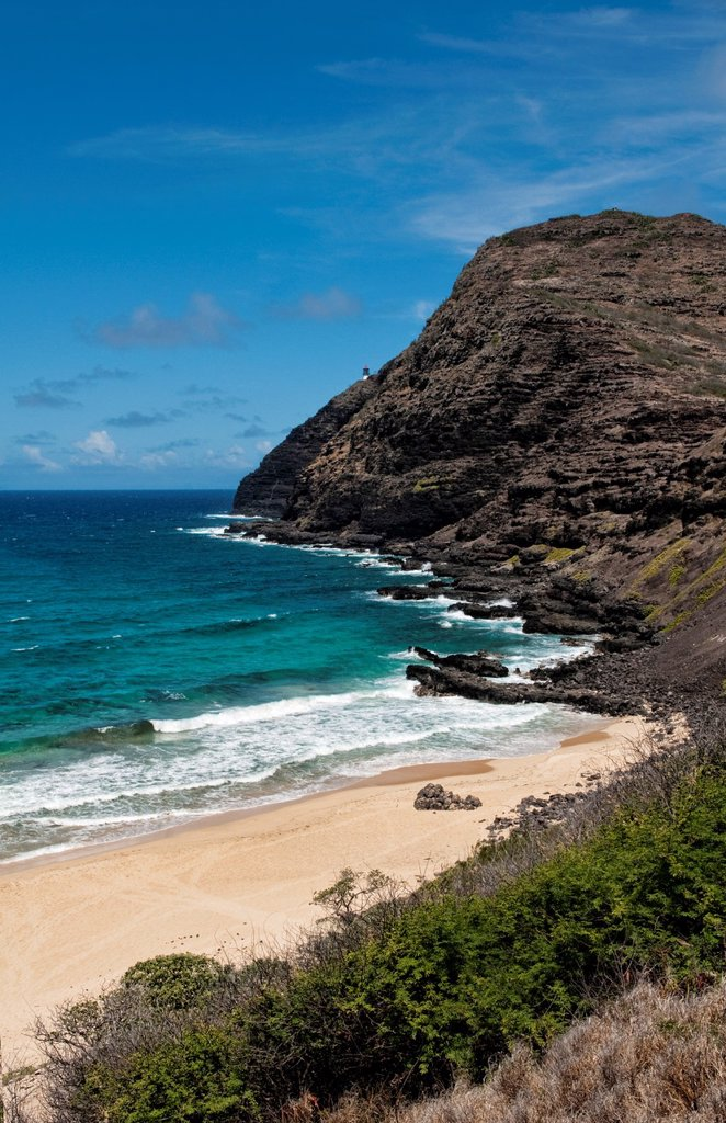 Beautiful scenic of Sandy´s Beach park on South East island iof Oahu near Honolulu Hawaii : Stock Photo
