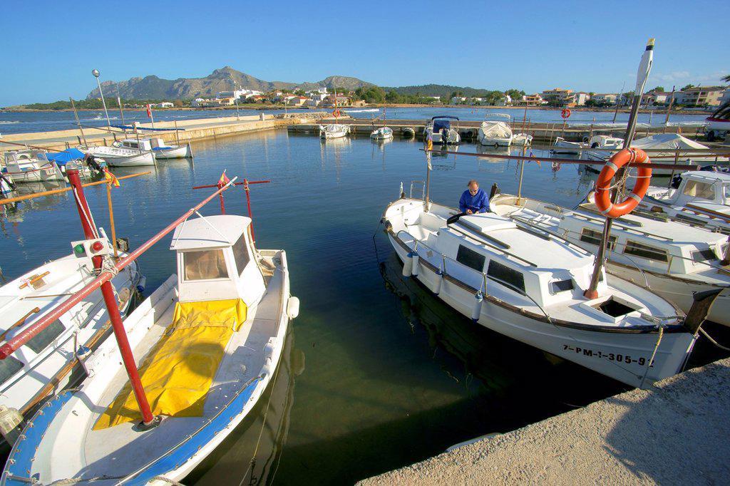 Stock Photo: 1566-1174107 Es Barcarès, Alcudia, Bahia de Pollença, Nort, Spain Baleares Mallorca