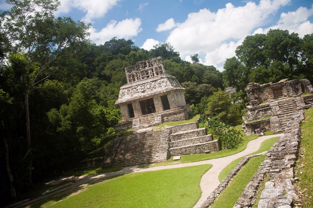 Stock Photo: 1566-1174142 Archeological site Palenque, Chiapas, Mexico