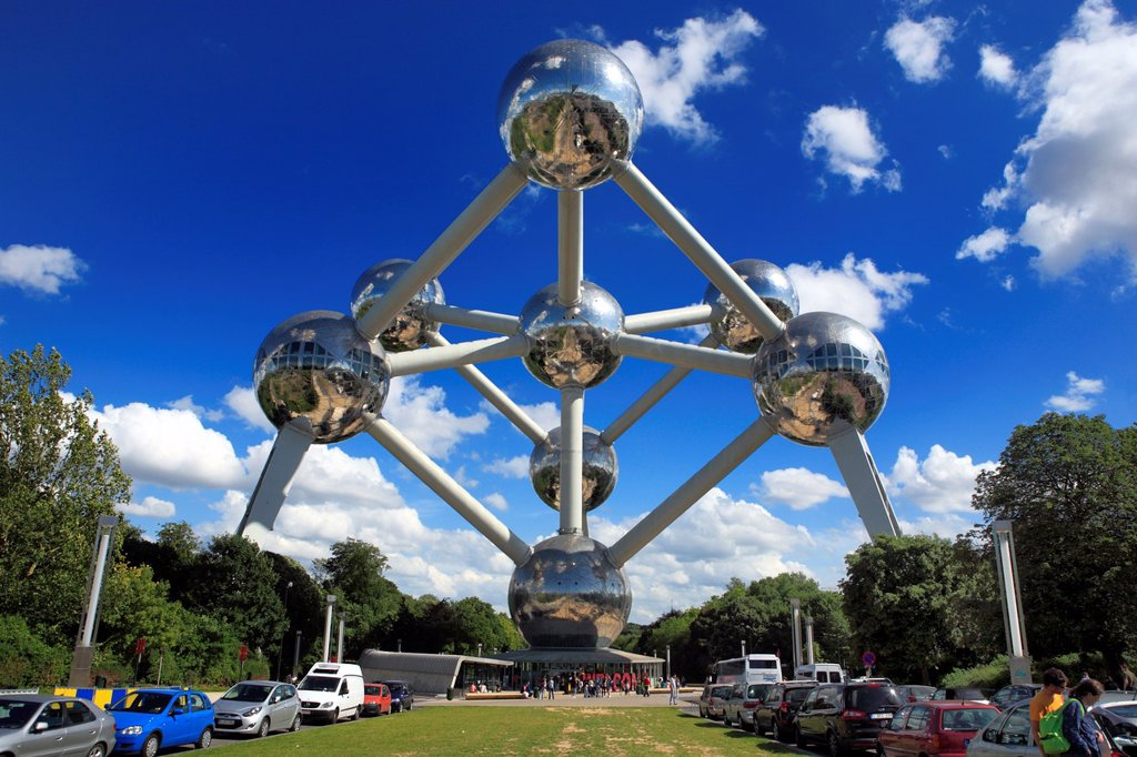 Stock Photo: 1566-1174330 Atomium 1958, by Andre Waterkeyn, Brussels, Belgium