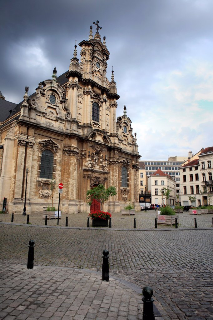 Stock Photo: 1566-1174335 St Jean Baptiste au Beguinage church 1676, Brussels, Belgium