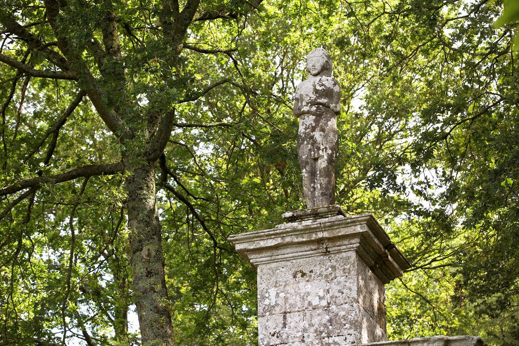 Stock Photo: 1566-1175557 the venus, municipality of baud, morbihan, brittany, France The statue of the fountain has its origin in an ancient idol, still venerated in a pagan ritual in the middle of the seventeenth century