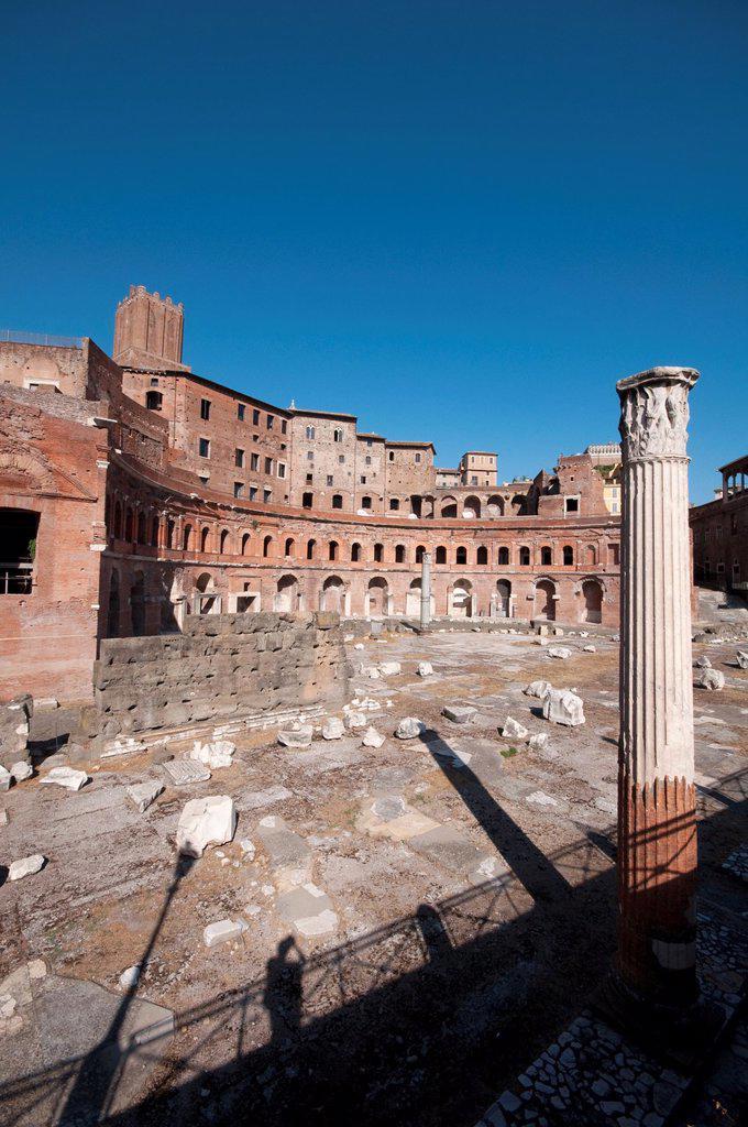 Italy, Lazio, Rome, Foro Traiano, Trajan Market : Stock Photo