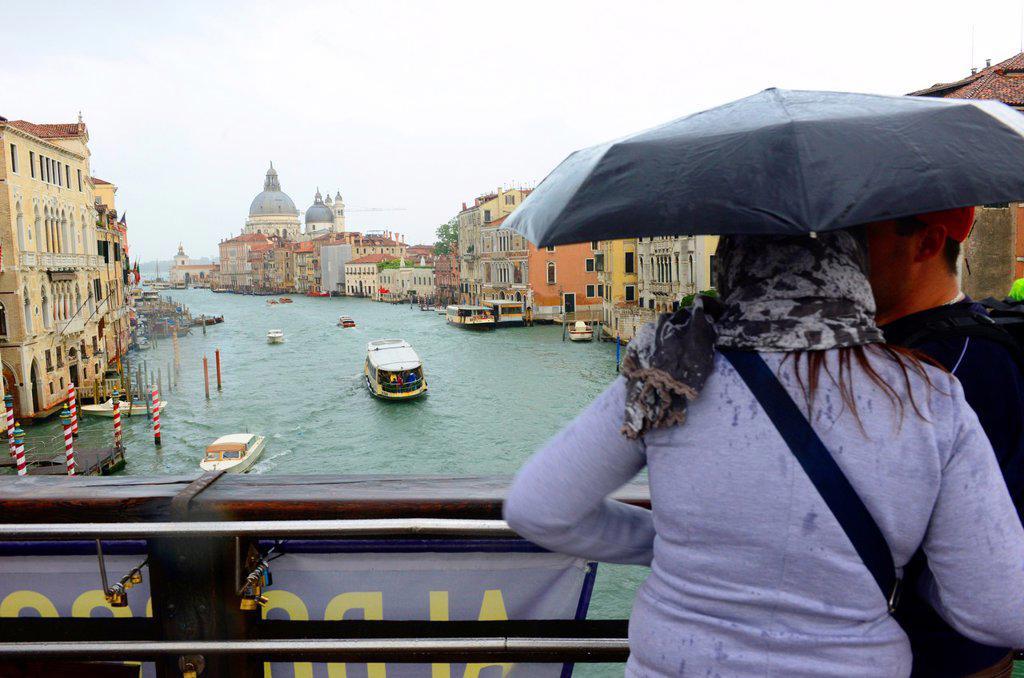 Venice in rain ,Italy,Europe : Stock Photo