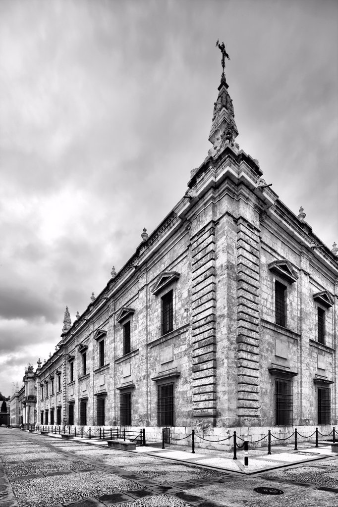 Stock Photo: 1566-1176936 West and North facades, University of Seville former Royal Tobacco Factory, Seville, Spain