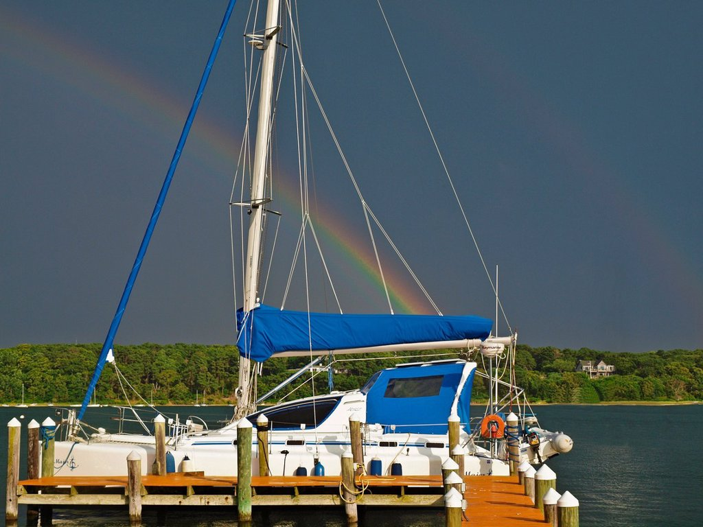 Rainbow over Martha´s Vinyard, Massachusetts : Stock Photo