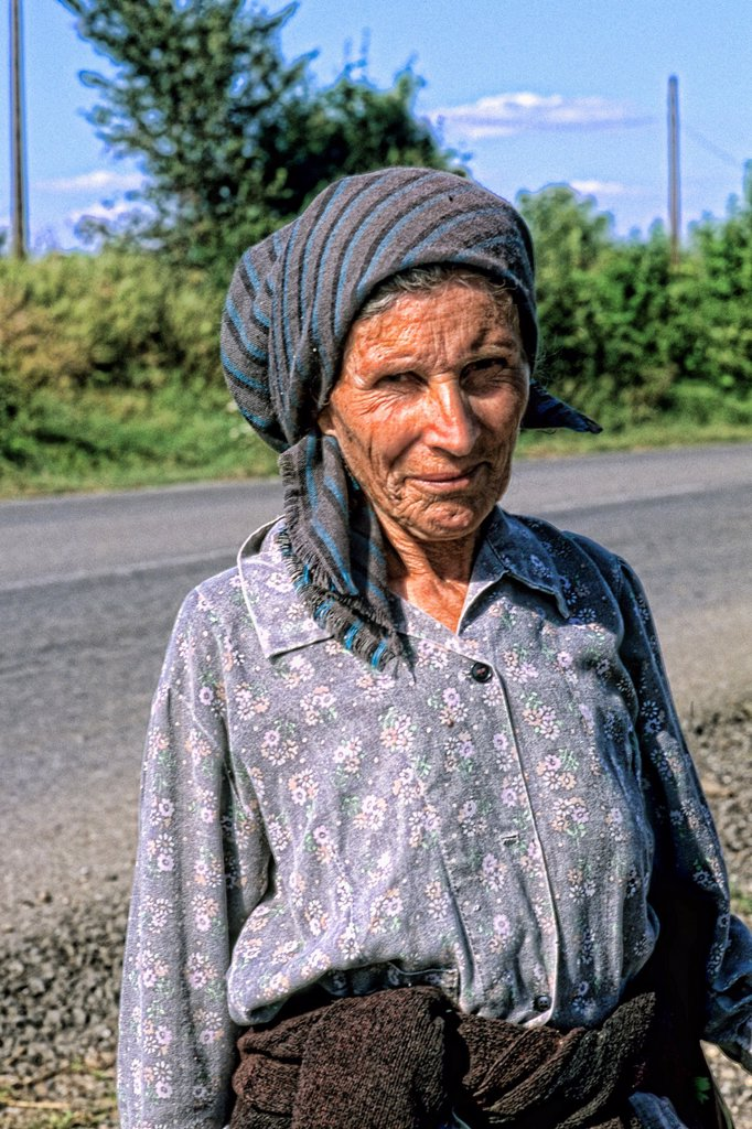 Albania close up of woman outside Tirana Albania : Stock Photo